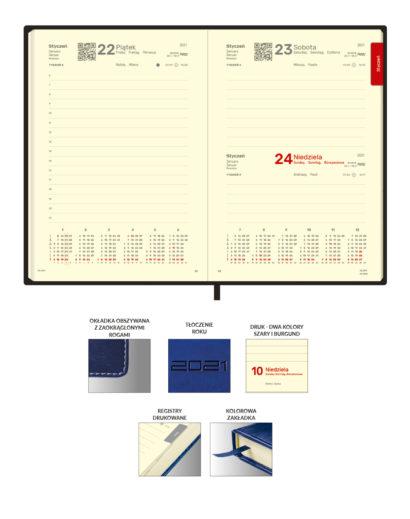 Kremowe kalendarium dzienne B5