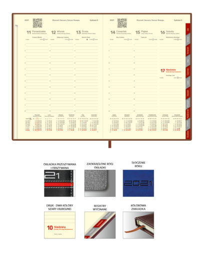 Uniwersalne kalendarium tygodniowe B5