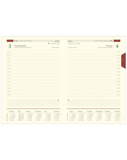 Kremowe kalendarium B5 na przyjemnym papierze chamois