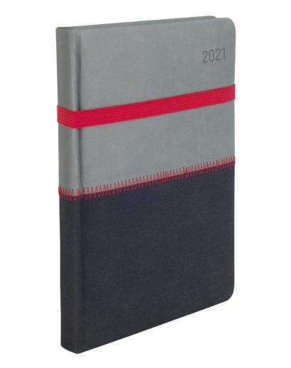 Kalendarz dzienny A5 przeszyty czerwoną nicią